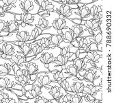 magnolia outline spring... | Shutterstock .eps vector #788690332