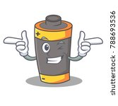 wink battery character cartoon...   Shutterstock .eps vector #788693536