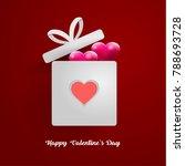 happy valentine's day.... | Shutterstock .eps vector #788693728