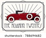 retro car from the roaring... | Shutterstock .eps vector #788694682