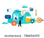 cloud computing services and... | Shutterstock .eps vector #788696455