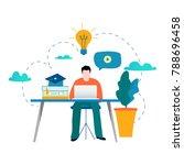 education  online training... | Shutterstock .eps vector #788696458