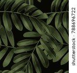 illustration of  leaf seamless... | Shutterstock .eps vector #788696722