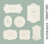 set of premium label for design ... | Shutterstock .eps vector #788697385