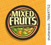 vector logo for fruits  sign...