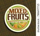 vector logo for fruits  sign...   Shutterstock .eps vector #788697715