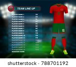 morocco soccer jersey kit with... | Shutterstock .eps vector #788701192