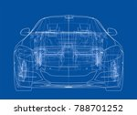 concept car. vector rendering... | Shutterstock .eps vector #788701252