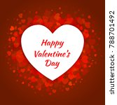 valentines day card design with ... | Shutterstock .eps vector #788701492