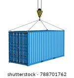 service delivery   blue cargo... | Shutterstock . vector #788701762