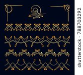 vector set of seamless borders  ... | Shutterstock .eps vector #788703292
