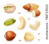 nuts realistic vector set... | Shutterstock .eps vector #788715022