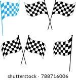 race flag various designs ... | Shutterstock .eps vector #788716006