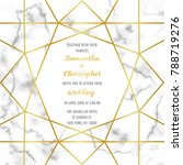 wedding invitation card with... | Shutterstock .eps vector #788719276