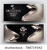 vip elegant invitation cards...   Shutterstock .eps vector #788719342