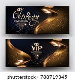 vip elegant invitation cards... | Shutterstock .eps vector #788719345