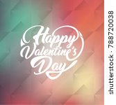 happy valentines day. greeting... | Shutterstock .eps vector #788720038