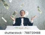 happy business man very rich... | Shutterstock . vector #788720488