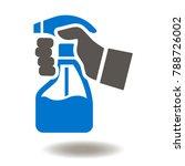 spray bottle hand icon vector.... | Shutterstock .eps vector #788726002
