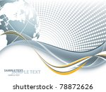 abstract vector frame with... | Shutterstock .eps vector #78872626