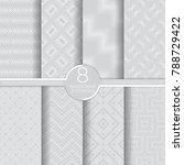 set of vector seamless pattern. ... | Shutterstock .eps vector #788729422