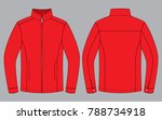 red jacket design  front and...   Shutterstock .eps vector #788734918