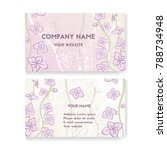 template business card for...   Shutterstock .eps vector #788734948