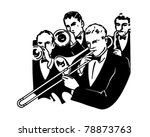 big band horn section   retro... | Shutterstock .eps vector #78873763
