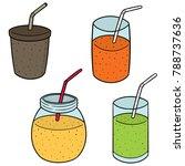 vector set of smoothie | Shutterstock .eps vector #788737636