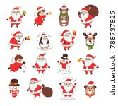 set of christmas icons with... | Shutterstock .eps vector #788737825