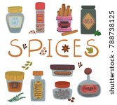 Various Spices And Herbs Set ...