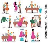 dressmaker set  male designer... | Shutterstock .eps vector #788738488