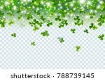 Irish Shamrock Falling Leaves...