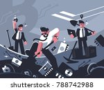 miners extract crypto currency...   Shutterstock .eps vector #788742988