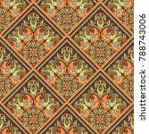 vector abstract patch pattern.... | Shutterstock .eps vector #788743006