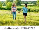 woman with daughter teen... | Shutterstock . vector #788743222