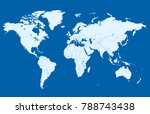 color world map vector | Shutterstock .eps vector #788743438