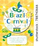 welcome brazil carnival  poster ... | Shutterstock .eps vector #788743666
