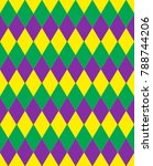 mardi gras abstract geometric... | Shutterstock .eps vector #788744206