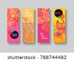 covers with geometric pattern.... | Shutterstock .eps vector #788744482