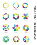 vector business design elements | Shutterstock .eps vector #78874483
