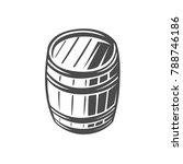 barrel. black and white vector... | Shutterstock .eps vector #788746186