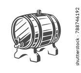 barrel. black and white vector... | Shutterstock .eps vector #788746192