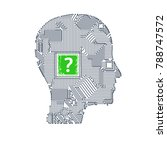 circuit board head | Shutterstock .eps vector #788747572