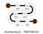 layered infographic timeline.... | Shutterstock .eps vector #788748142