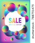 rainbow anodized titanium balls ... | Shutterstock .eps vector #788751475