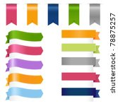 ribbons set  isolated on white... | Shutterstock .eps vector #78875257