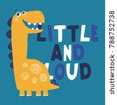 cute dinosaur illustration for... | Shutterstock .eps vector #788752738