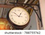 close up of vintage death clock ...   Shutterstock . vector #788755762