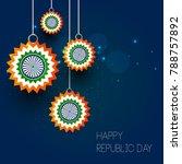 vector illustration of republic ... | Shutterstock .eps vector #788757892